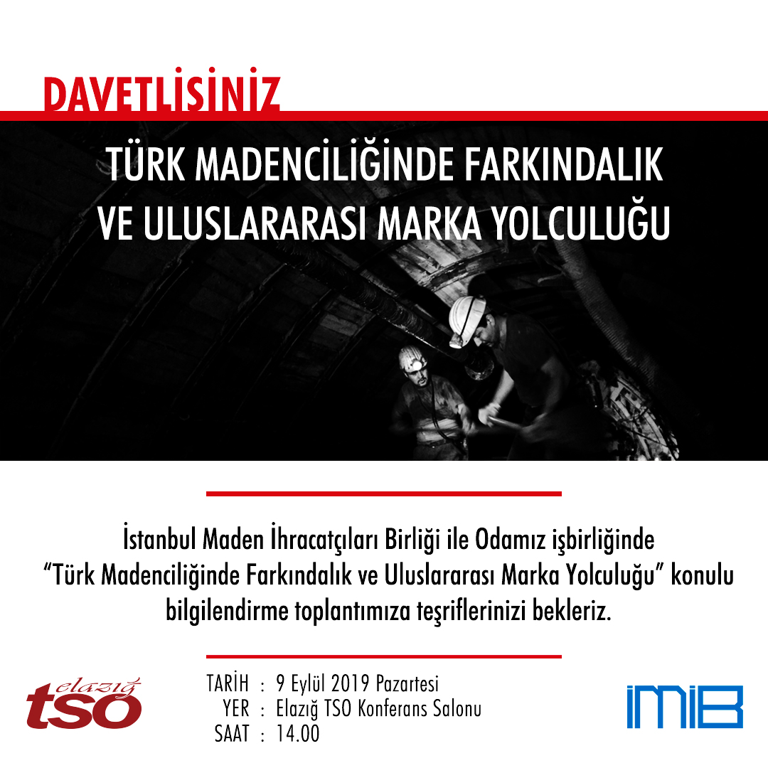 Başkan Arslan; Türk Madenciliğinde Farkındalık Ve Uluslararası Marka Yolculuğu Toplantısı İlimiz Madenciliği İçin Son Derece Önemli