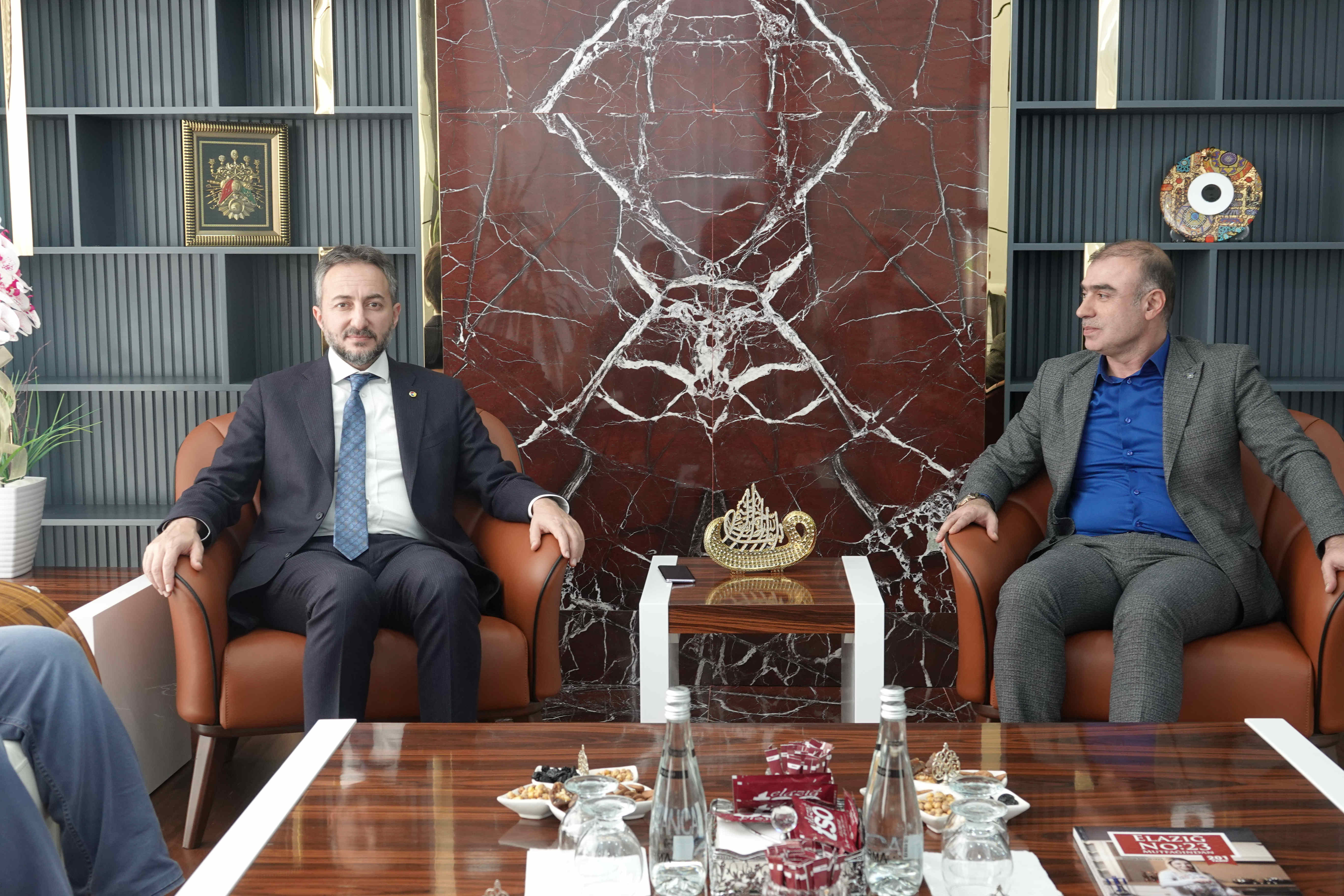 Elazığ Kent Konseyi Başkanı Murat Ergen, Başkan Arslan'ı Ziyaret Etti