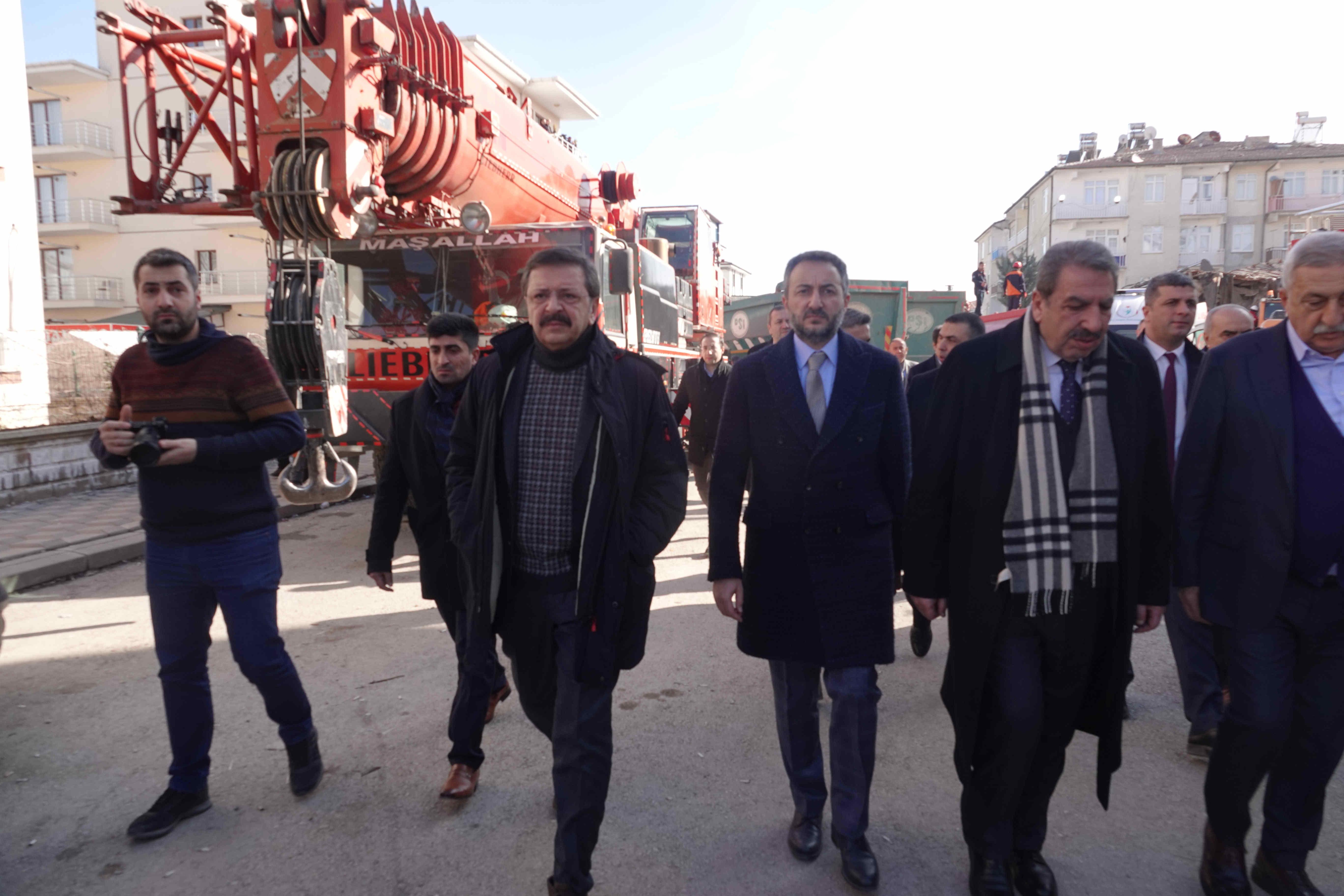 24 Ocak Depreminin Ardından TOBB Tüm İmkanları İle Elazığ'ın Yanında Yer Almıştır…