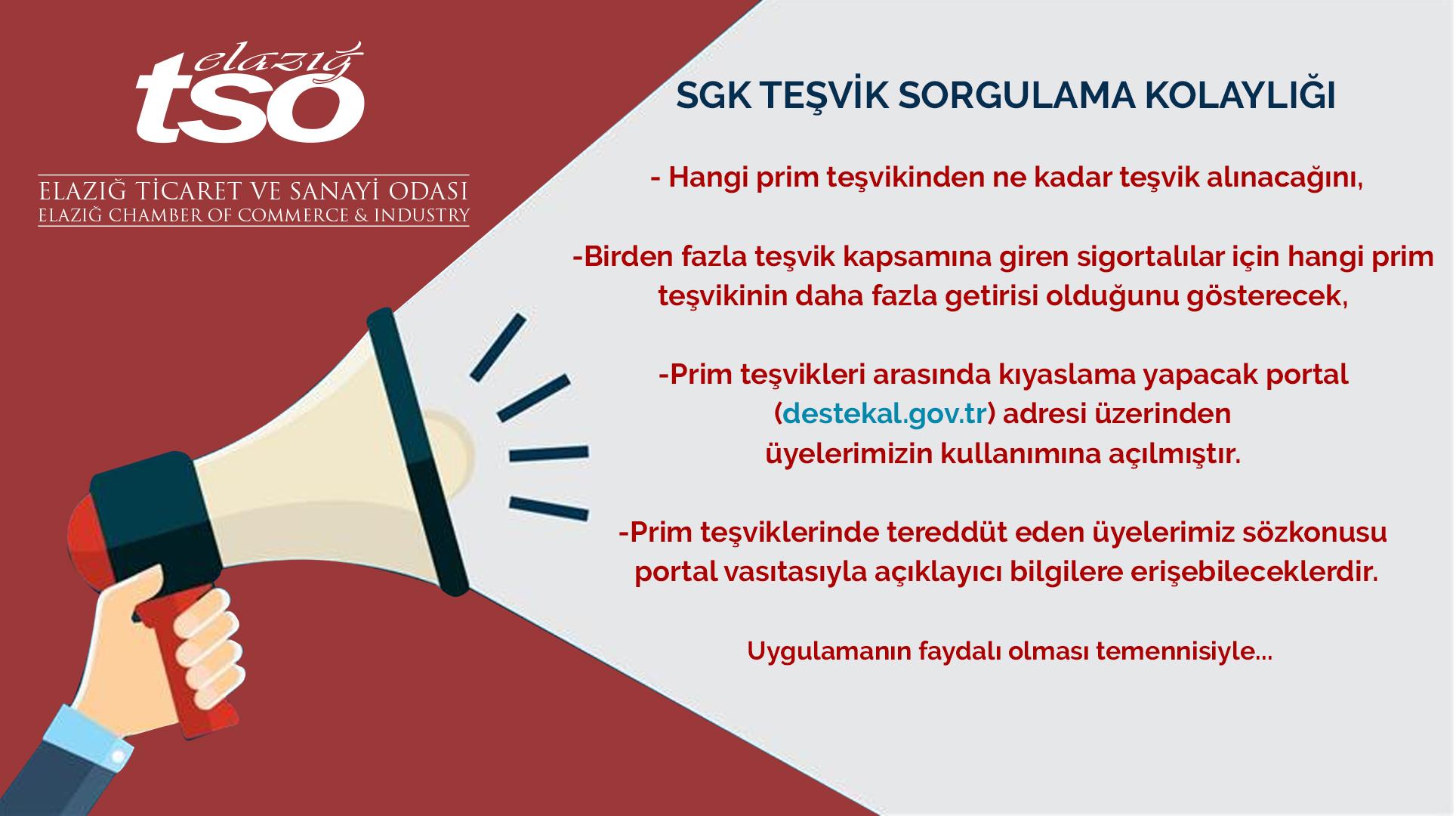 SGK Teşvik Sorgulama Kolaylığı