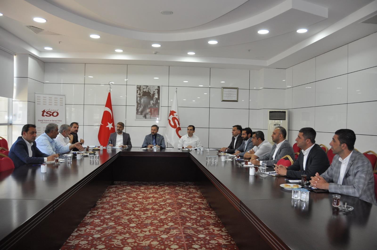 KARMA OSB İSTİŞARE TOPLANTISI ELAZIĞ TSO'DA YAPILDI