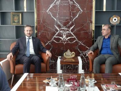 Elazığ Kent Konseyi Başkanı Murat Ergen, Başkan Arslan'ı Ziyaret Etti a