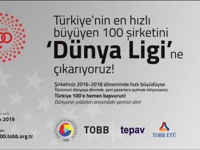 Türkiye'nin En Hızlı Büyüyen 100 Şirketini  'DÜNYA LİGİ'ne Çıkarıyoruz a