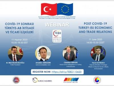 COVID-19 Sonrası Türkiye-AB İktisadi ve Ticari İlişkileri Webinarı Hk. a